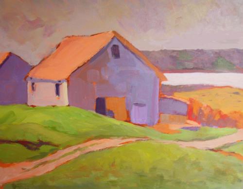 Barn On Horseneck by Phyllis Dobbyn Adams