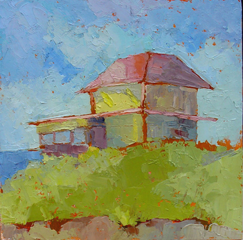 Cottage By The Sea by Phyllis Dobbyn Adams