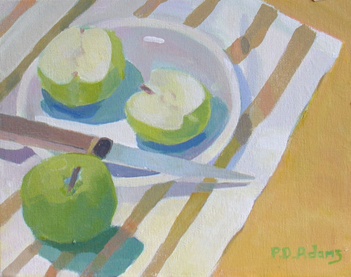 Little Green Apples - SOLD by Phyllis Dobbyn Adams