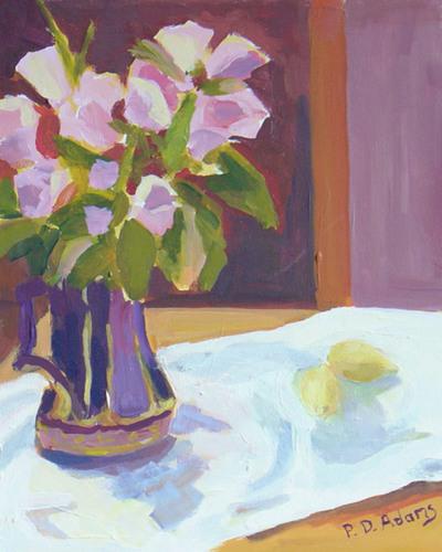 Purple Pitcher by Phyllis Dobbyn Adams