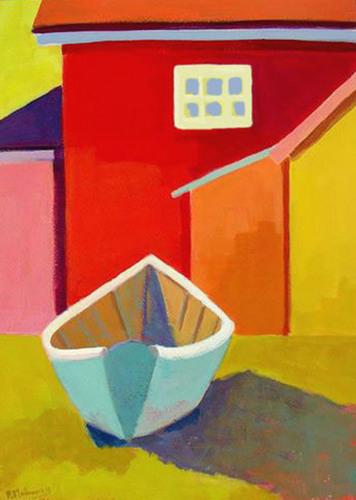 Backyard Skiff    SOLD by Phyllis Dobbyn Adams