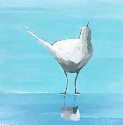 Egret 3 by Phyllis Dobbyn Adams