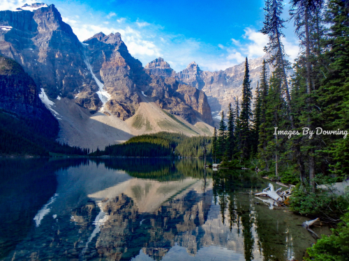 Moraine Lake near Banff  by Images By Downing