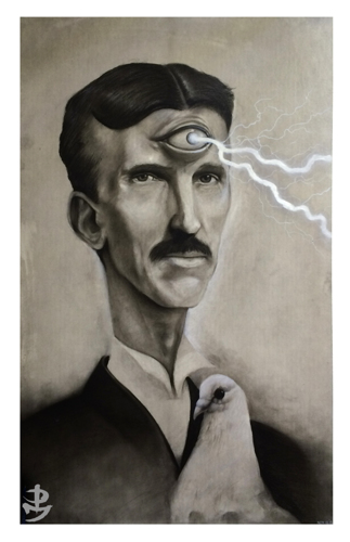 Tesla  by Picasso Dular Prints