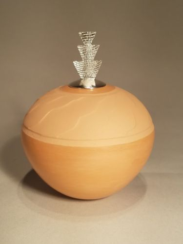 Shifting Sands seed pot with Corn Plant lid