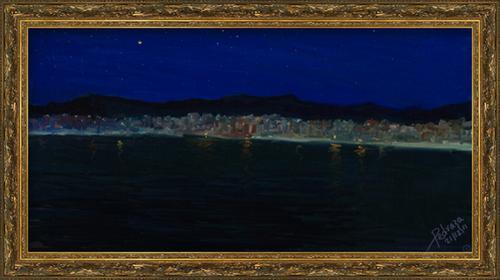 Aterrizando en la isla del encanto en una noche estrellada