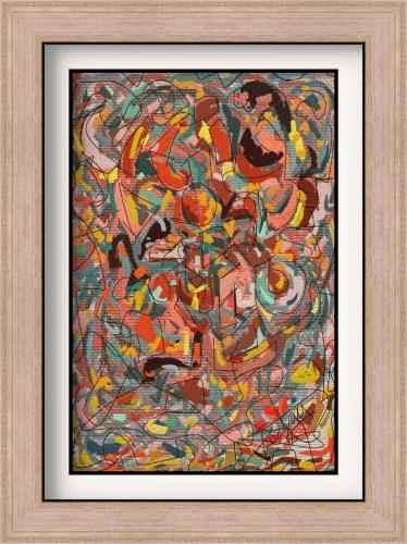 """De la serie composiciones abstractas - """"Composición abrtracta A"""""""