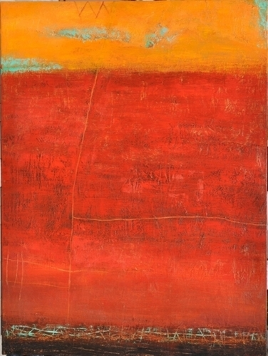 Desert Shadows in Red by Peggy Hinaekian