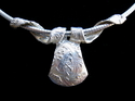 Celtic Design Slide Pendant in fine silver
