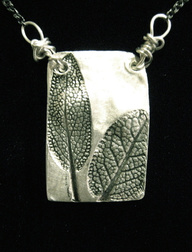 Sage Leaf pendant