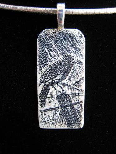Talisman Series: Raven in field