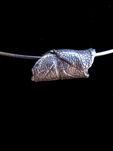 Fine Silver Sage Leaf Slide Pendant