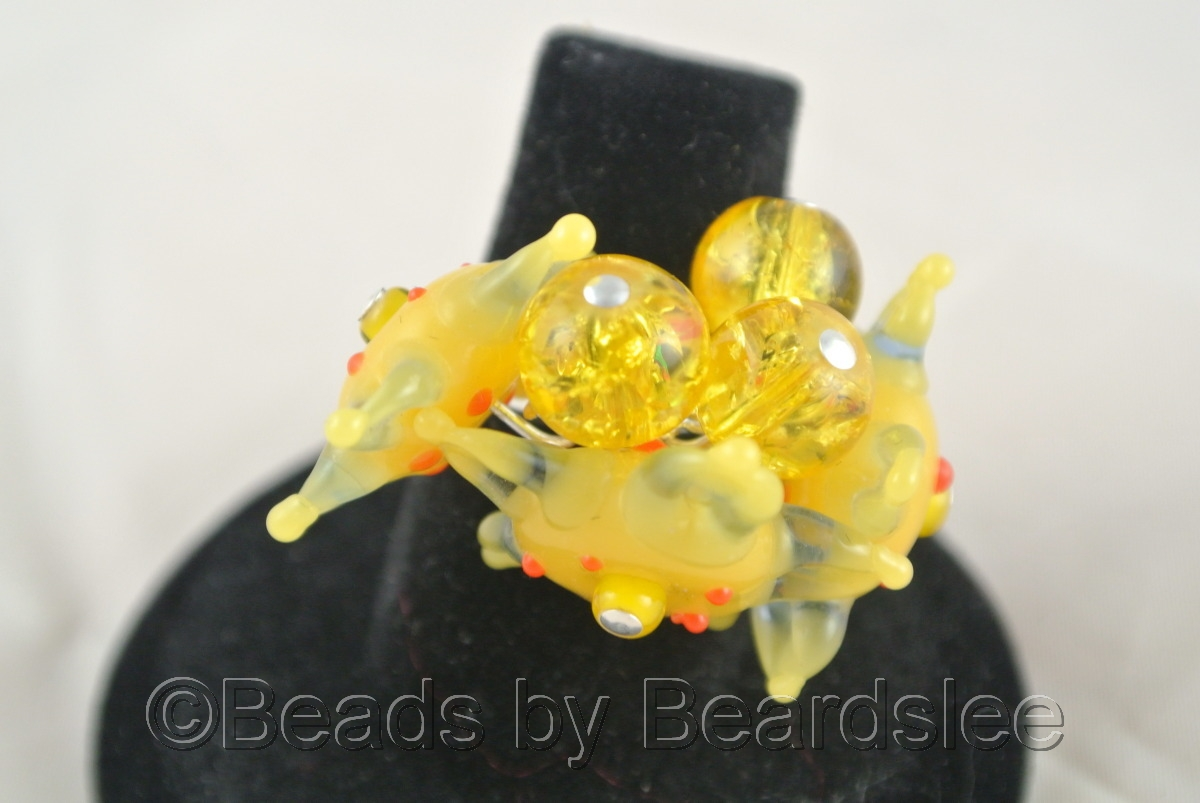Yellow Flower Ring (large view)