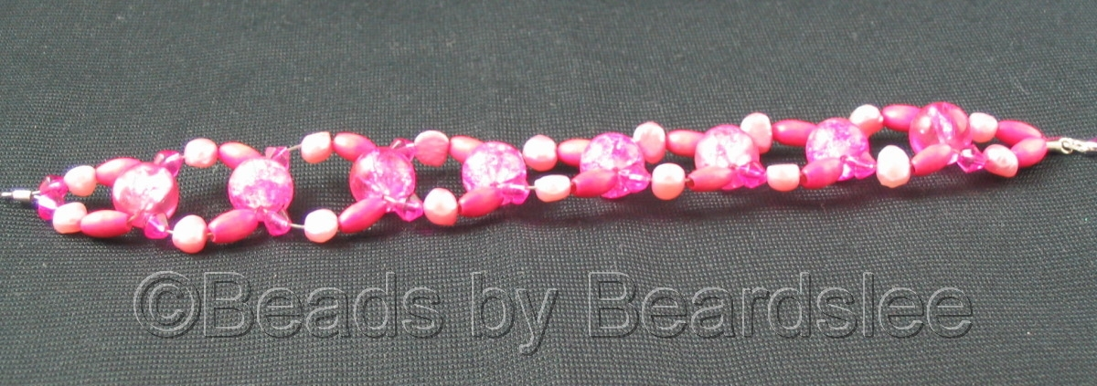 Pink Woven Bracelet (large view)