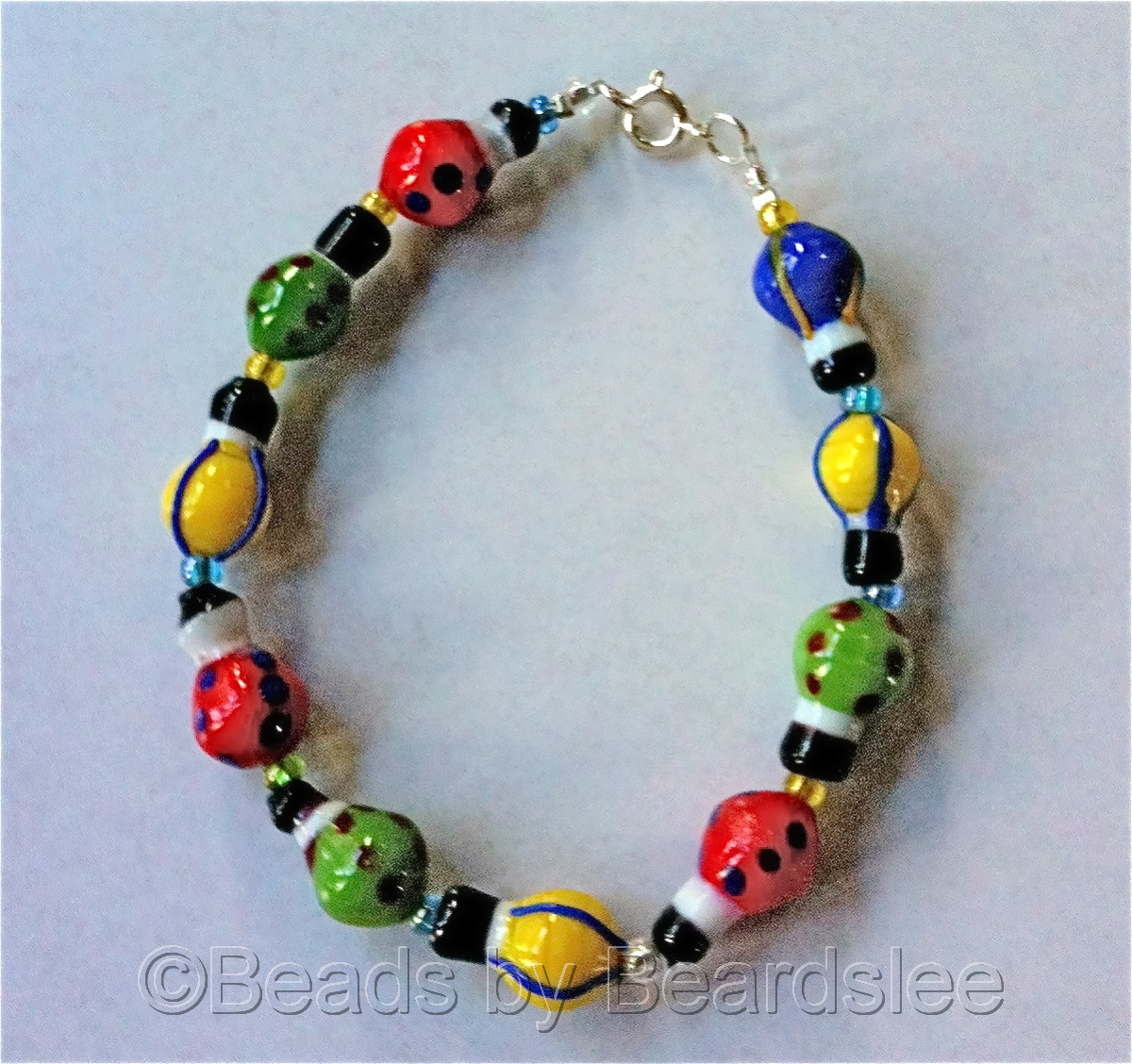 Glass Hot Air Balloon Bracelet (large view)