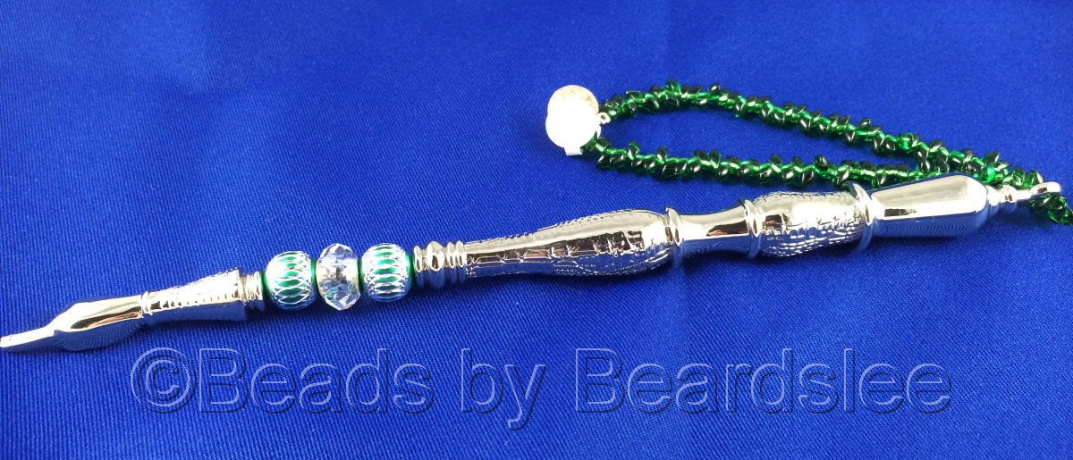 Green and Silver Yad (Torah Pointer) (large view)