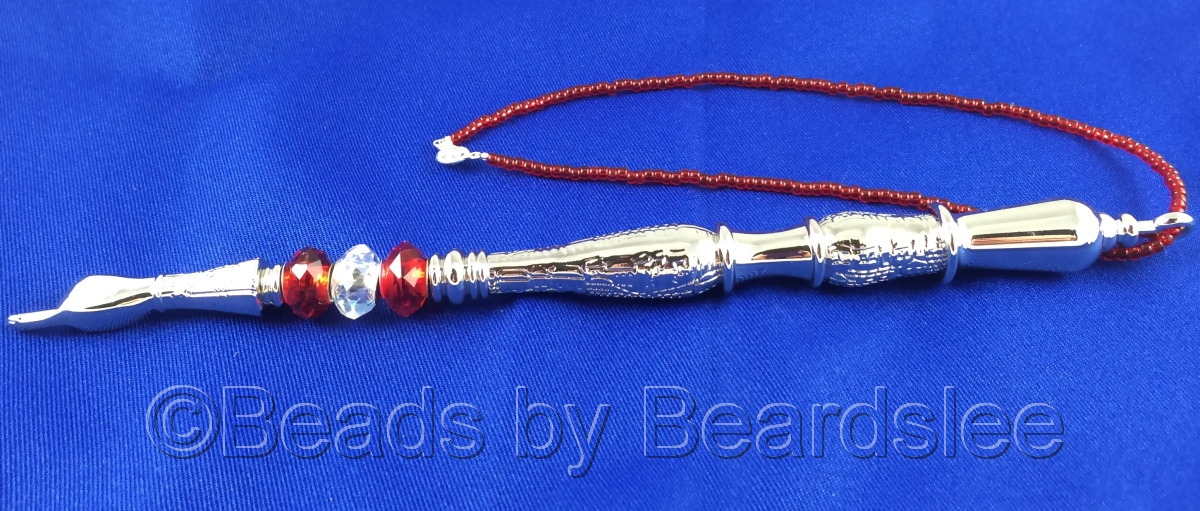 Red and Silver Yad (Torah Pointer) (large view)