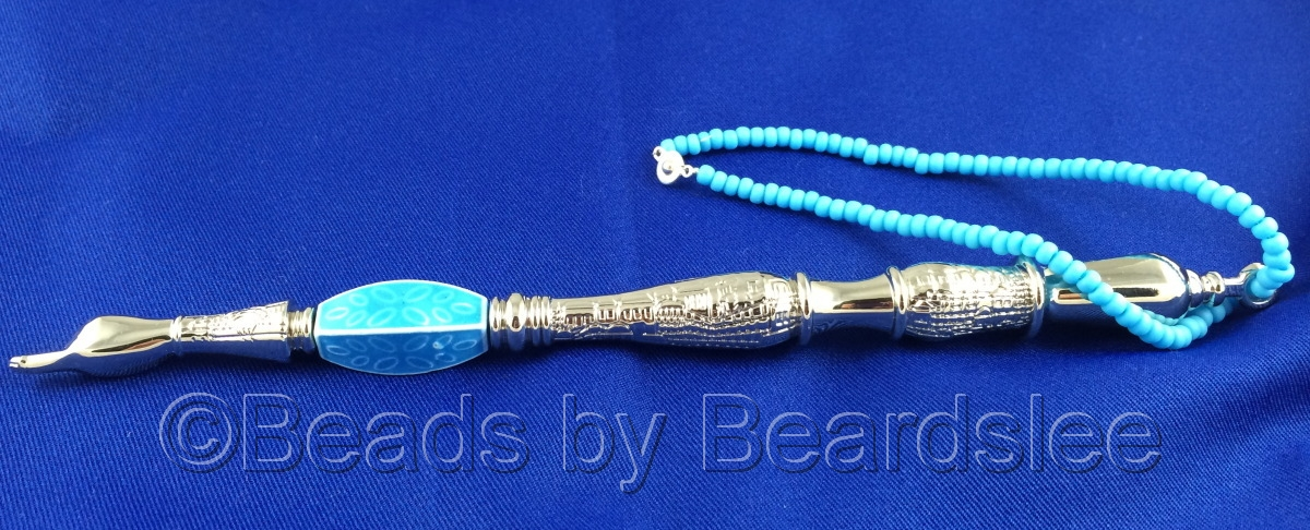 Blue & Silver Yad (Torah Pointer) (large view)