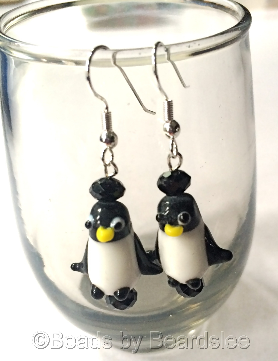 Penguin Earrings (large view)
