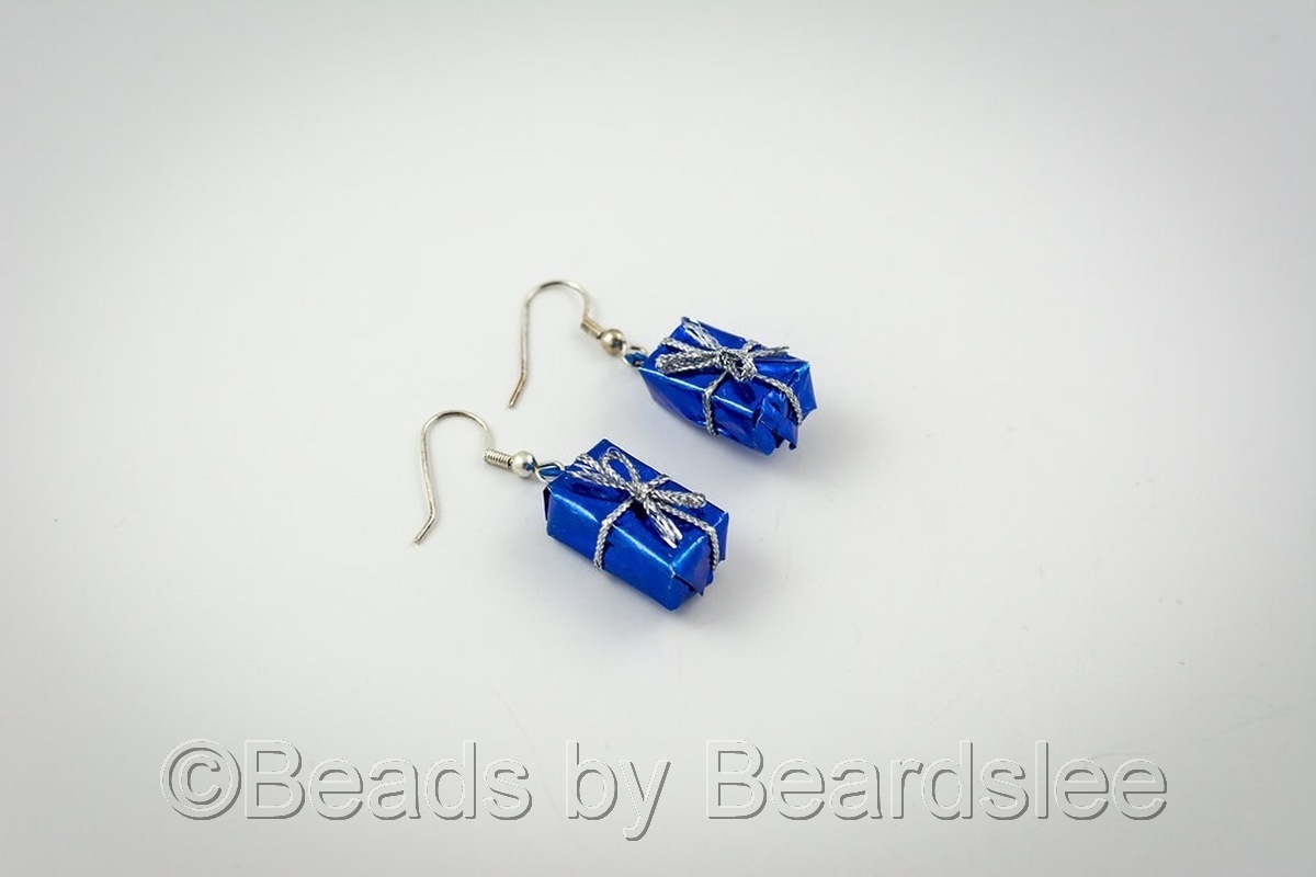 Blue Present Earrings (large view)