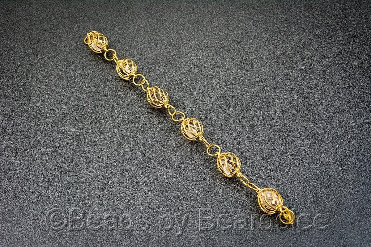 Gold Diamond Quartz Bracelet (large view)