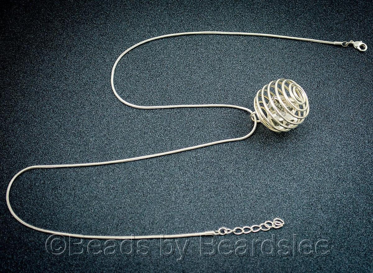 Silver Diamond Quartz Necklace (large view)