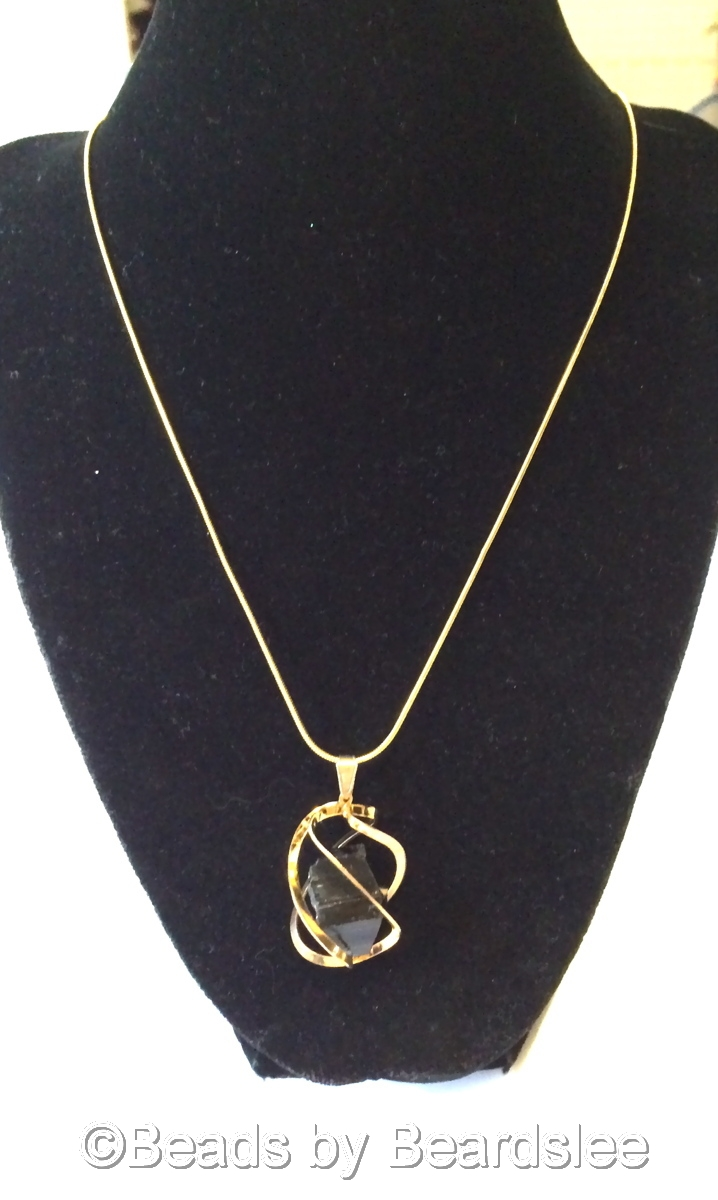 Gold & Black Tourmaline Necklace (large view)