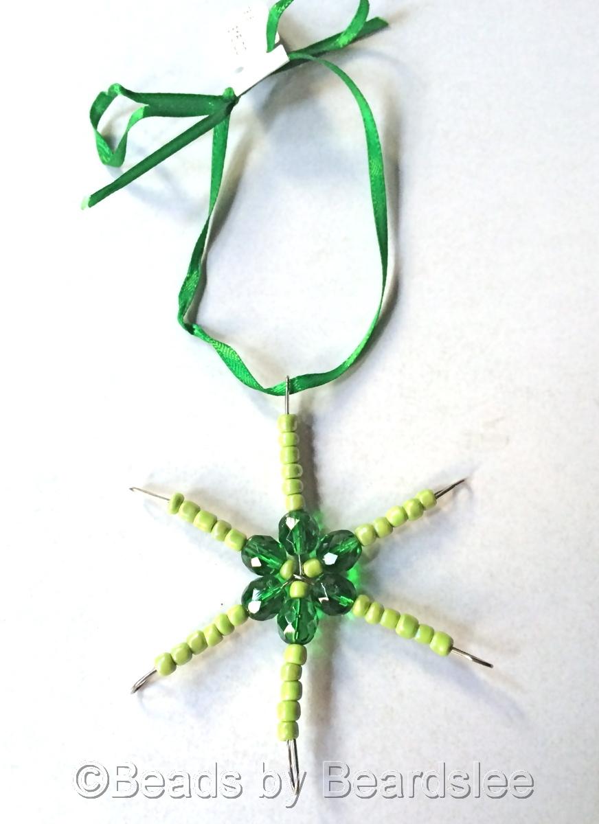 Green Snowflake Ornament/Sun catcher (large view)