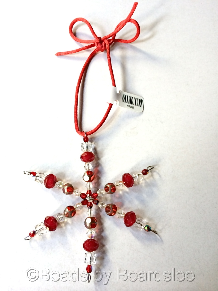 Red Snowflake Ornament/Sun Catcher (large view)