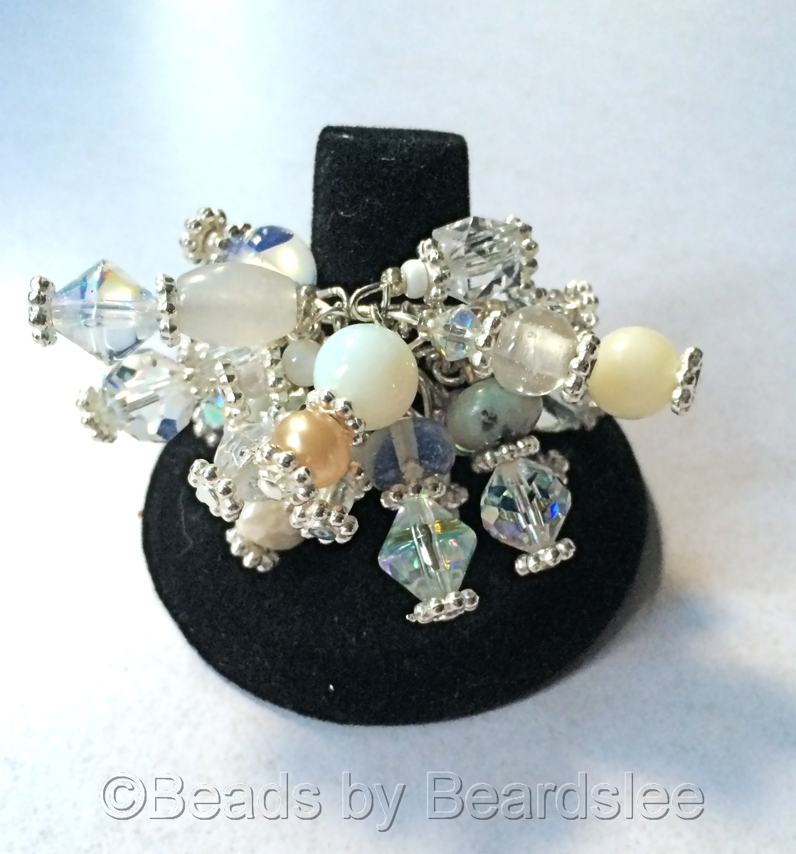 White & Silver Cha Cha Ring (large view)