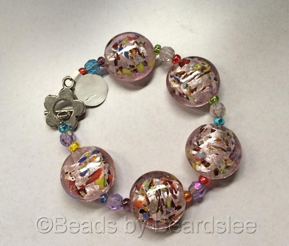Pink Lampwork Bracelet (large view)