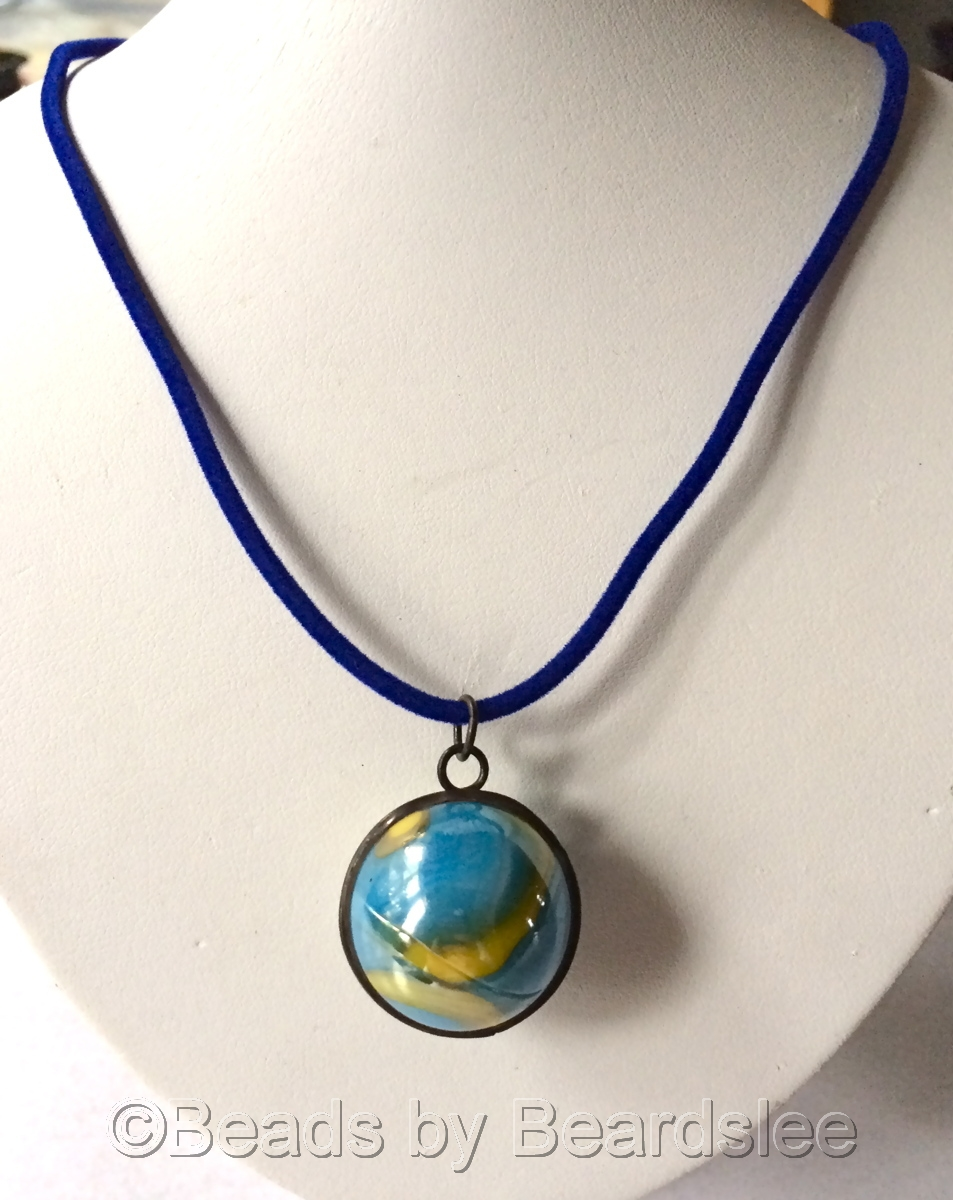 Blue Marble Necklace (large view)