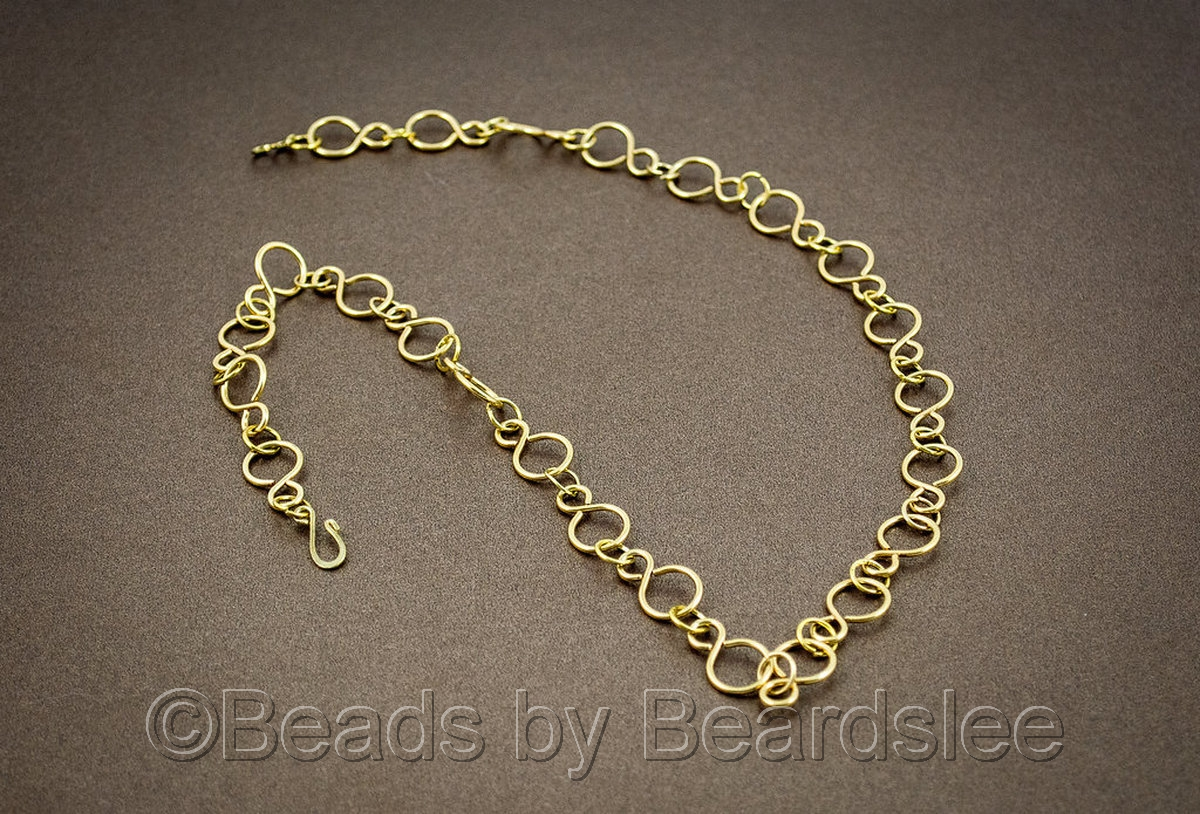 Gold Infinity Link Necklace (large view)