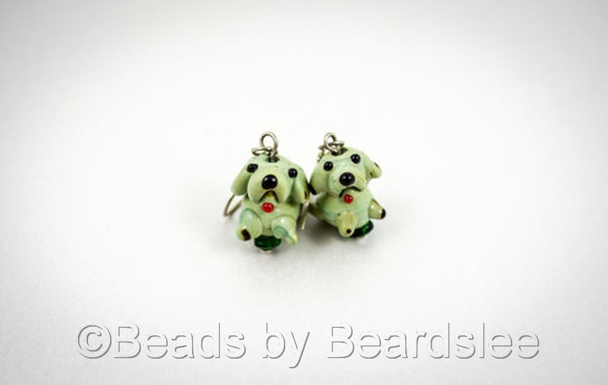 Green Dog Earrings (large view)