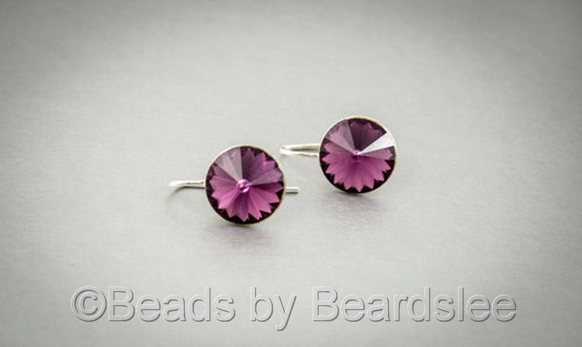 Amethyst Swarovski Earrings (large view)