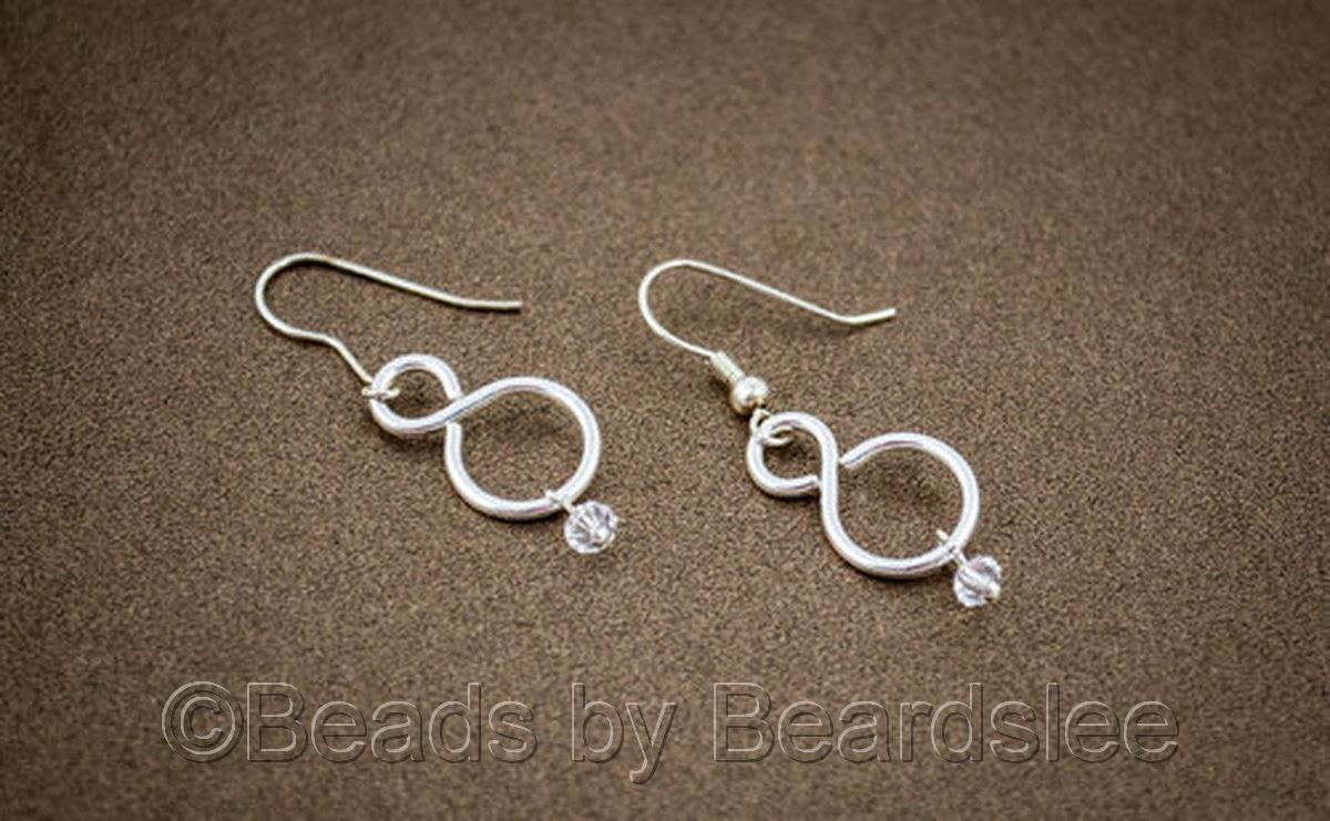 Silver Infinity Link Earrings (large view)