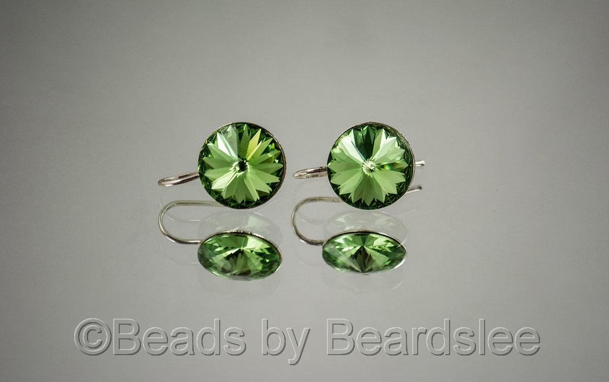 Peridot Swarovski Earrings (large view)