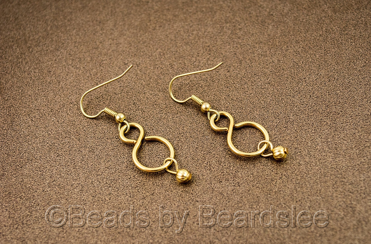 Gold Infinity Link Earrings (large view)