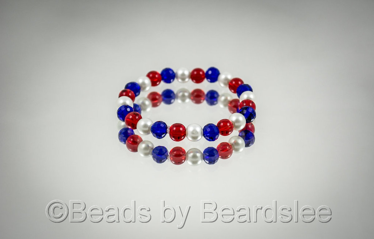 Red, White and Blue Bracelet (large view)