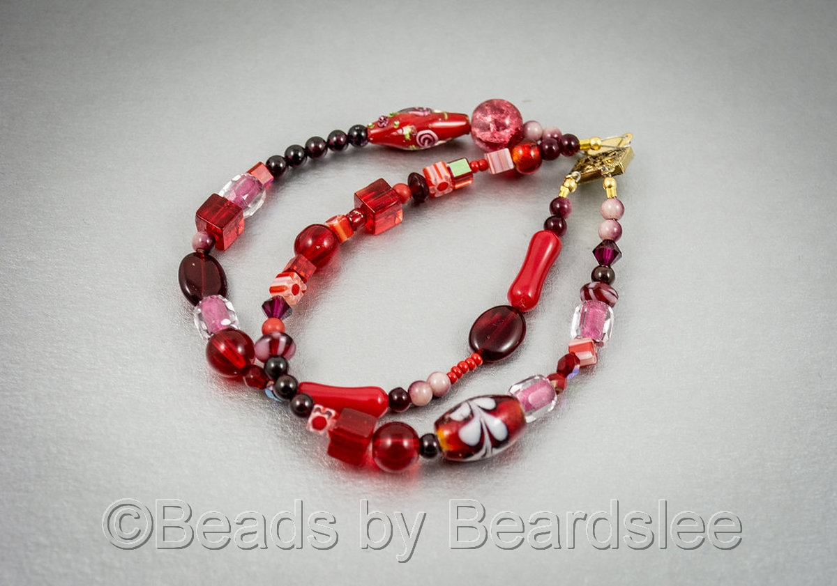 Red Two Strand Bracelet (large view)