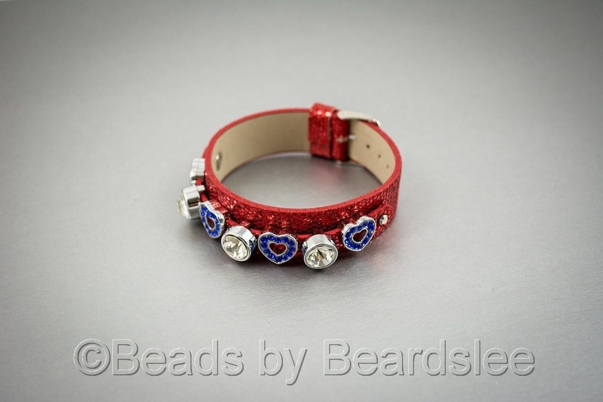Red Slide Charm Bracelet (large view)