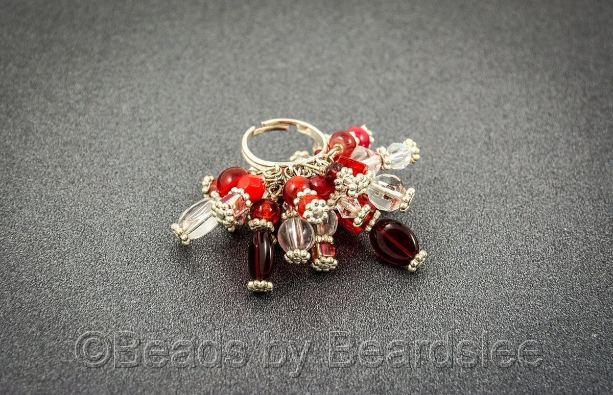 Red & Crystal Cha-Cha Ring (large view)