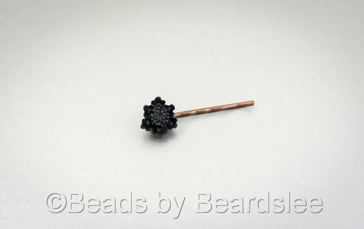 Black Flower Bobby Pin (large view)