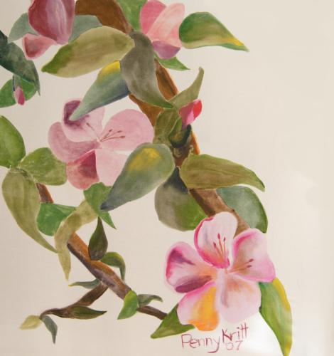 Cherry Blossoms on Silk