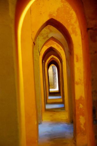 El Alhambra arches, Spain