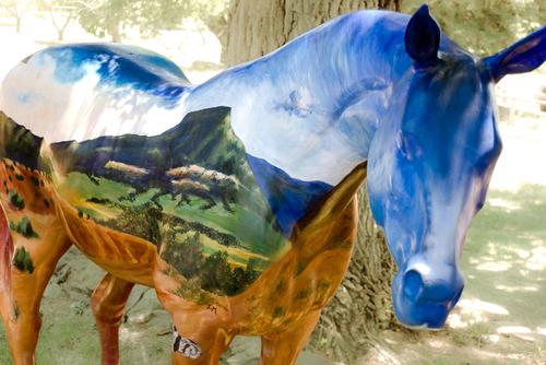 Landscape horse
