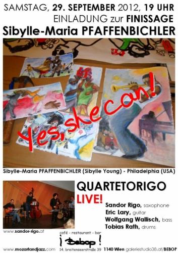 FINISSAGE SEPTEMER 29, Jazz Cafe BEBOP, VIENNA, AUSTRIA