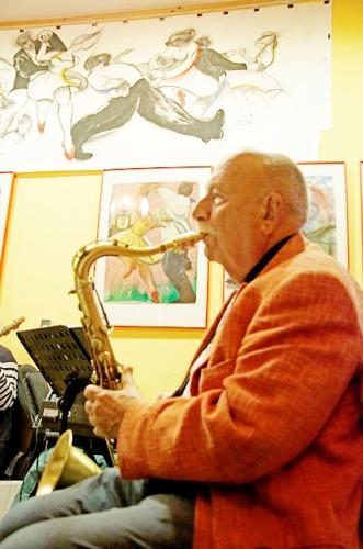 Exhibition w Austrian Jazz Musician Prof. Hans Solomon, Vienna