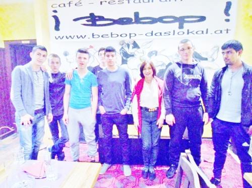 Metal Work students visiting exhibition in Vienna