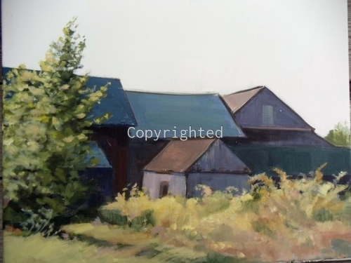North Fork Barns by Patricia Feiler ArtWork
